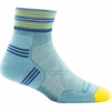 Darn Tough Womens Vertex 1/4 Ultra Light Cushion Light Blue (Close Out)