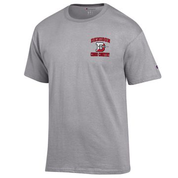 Denison Champion Cross Country Tee Shirt Oxford Grey