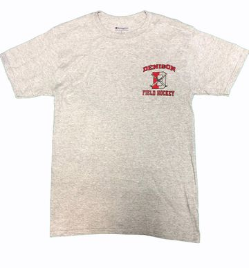 Denison Champion Field Hockey Tee Oxford Grey