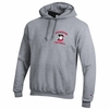 Denison Champion New Football Powerblend Fleece Hoodie Heather Grey