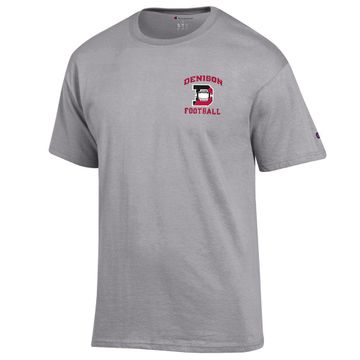 Denison Champion New Football T-Shirt Oxford Grey