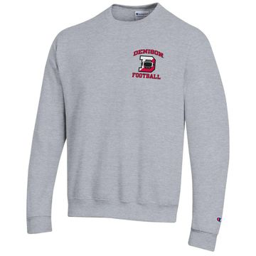 Denison Champion Powerblend Fleece Crew Football Heather Gray