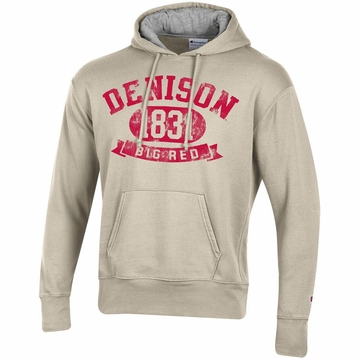 Denison Champion Rochester Fleece Pullover Hoodie Oatmeal Heather