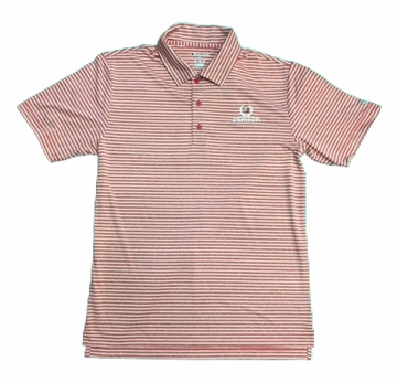 Denison Champion Stadium Stripe Polo Scarlet