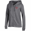 Denison Champion Womens University Fleece Full-Zip Hood Charcoal/ Granite Heather