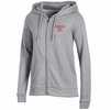 Denison Champion Womens University Fleece Full-Zip Hood Oxford Heather