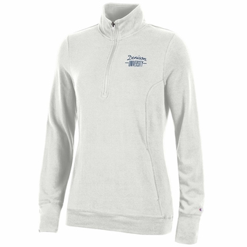 Denison Champion Womens University Lounge 1/4 Zip Winter White