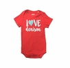 Denison Garb Infant Onesie Love Denison Red