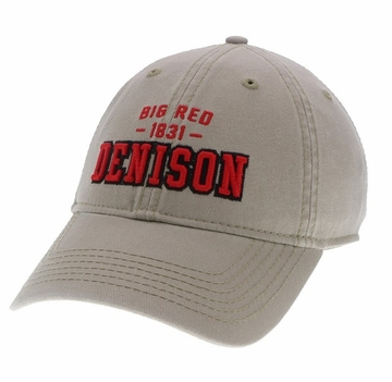 Denison Legacy Big Red Twill Khaki Cap