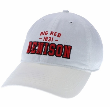 Denison Legacy Big Red Twill White Cap