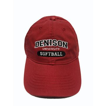 Denison Legacy Classic Softball Hat Red