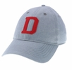 Denison Legacy Scarlet Oxford Grey Cap
