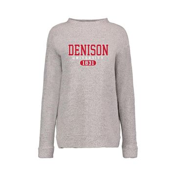 Denison Lyla Loop Woolies Fleece Crew Gray