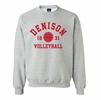 Denison MV Classic Fleece Volleyball Crew Gray