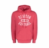 Denison MV Retro Heathered Hooded Sweatshirt Softball Red
