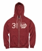 Denison MV Retro Heathered Zip Hood Heather Red