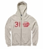 Denison MV Retro Heathered Zip Hood Oatmeal