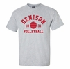 Denison MV Sports Tee Volleyball Gray