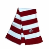 Denison Niagara Rugby Striped Knit Scarf Red/ White