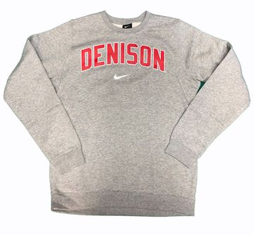 Denison Nike Club Fleece Crew Dark Heather