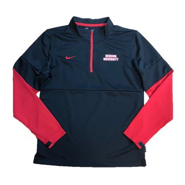 Denison Nike Coach Half Zip Top Black/ Red