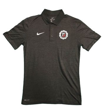 Denison Nike Dry Short Sleeve Polo Anthracite