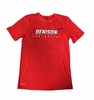 Denison Nike Football Short Sleeve Dri-Fit Cotton Knit Tee University Red