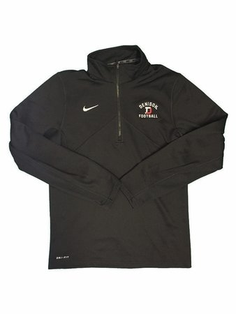 Denison Nike Football Training 1/2 Zip Black