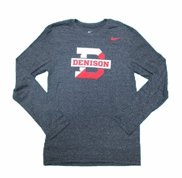 Denison Nike Knit Long Sleeve Shirt Black