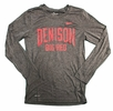 Denison Nike Legend Long Sleeve Tee Big Red Charcoal Heather