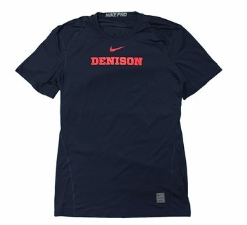 Denison Nike Pro Coolfit SS Tee Navy