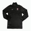 Denison Nike Training 1/2 Zip Baseball Black