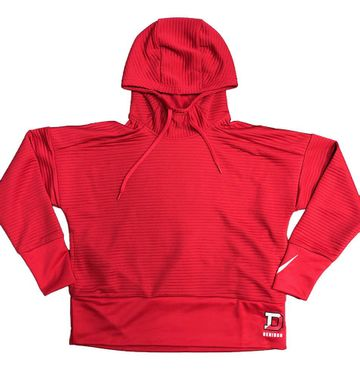 Denison Nike Womens Double Fleece Pullover Hoody Red