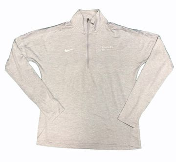 Denison Nike Womens Dry Element Heather 1/2 Zip White Grey