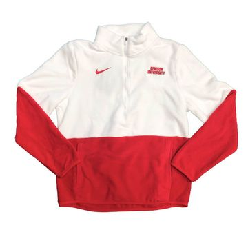 Denison Nike Womens Sideline Micro Fleece 1/2 Zip Red