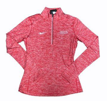 Denison Nike Womens Tailgate Heather 1/2 Zip Red