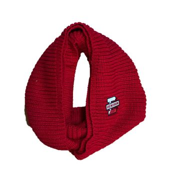 Denison Piper Chunky Knit Infinity Scarf Red