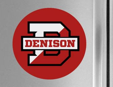Denison Red Split D Fridge Magnet