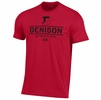 Denison Under Armour Performance Cotton Athletics Tee Red