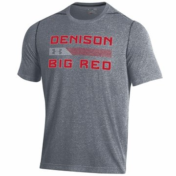 Denison Under Armour Big Red Threadborne SS Tee Rhino Grey