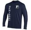 Denison Under Armour Performance Cotton Long Sleeve Tee Midnight Navy