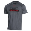 Denison Under Armour Tech Novelty Tee Pitch Gray