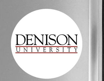 Denison White Logo Fridge Magnet
