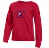 Denison Womens Champion Rochester Fleece Crew Scarlet