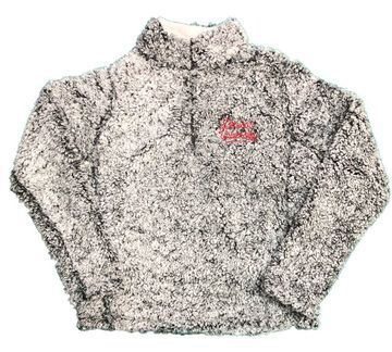Denison Womens MV Addison Sherpa 1/4 Zip Frosted Charcoal
