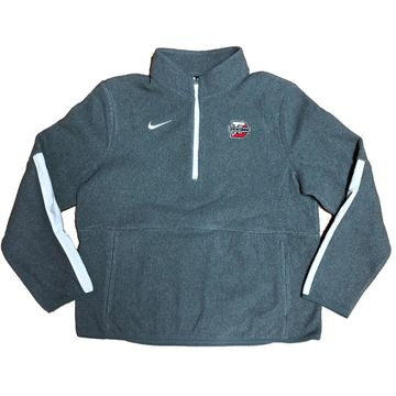 Denison Womens Nike Micro Fleece 1/2 Zip Dark Heather
