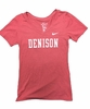 Denison Womens Nike Rayon Short Sleeve Shirt Red Heather