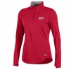 Denison Womens Under Armour 60/40 Charged Cotton 1/2 Zip Red