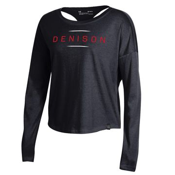 Denison Womens Under Armour SMU Ascend Long Sleeve Tee Black