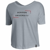 Denison Womens Under Armour SMU Ascend Short Sleeve Tee Steel Heather